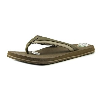 Sanuk Beer Cozy Light Men Open Toe Synthetic Tan Flip Flop Sandal