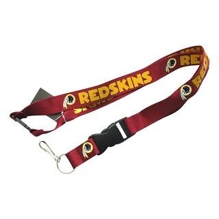 NFL Lanyard Keychain Batch Id Holder Washington Redskins - Red