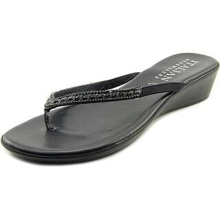 Italian Shoe Makers Hartley Women US  Black Thong Sandal