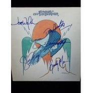 Signed Eagles On The Border Album cover By Don Henly Joe Walsh Glenn Frey  Randy Meisner and Don Fel