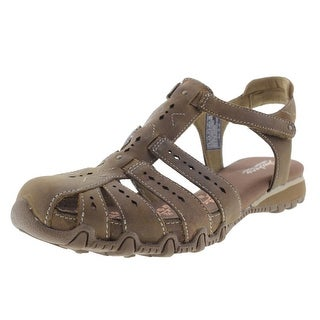 Skechers Womens Leather Perforated Fisherman Sandals