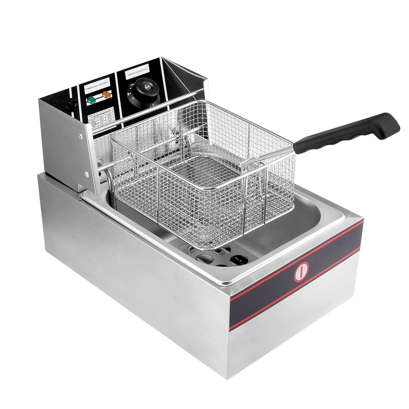 Arksen 2500w 6 Liter Electric Countertop Deep Fryer Adjustable Temp Overstock 15912099