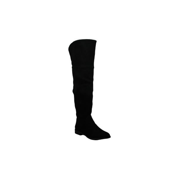 Xoxo Womens Tristen Suede Almond Toe Knee High Fashion Boots. Opens flyout.