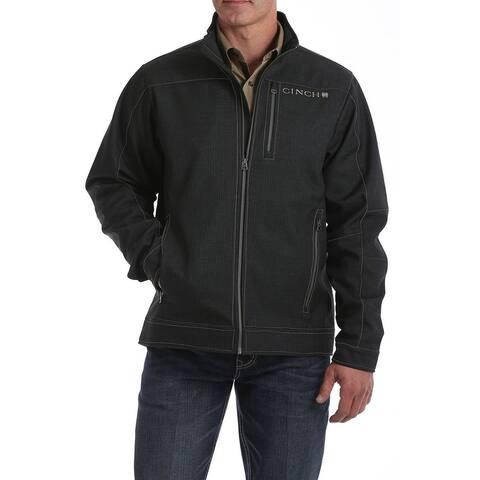 Cinch Western Jacket Mens Textured Waffle Fleece Charcoal