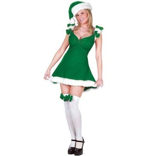Fun World Sexy Elf Adult Costume (Green) - Green