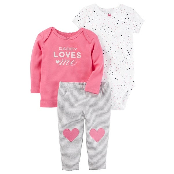 24e06a6fd82 Shop Carter s Baby Girls  3-Piece Little Character Set - Newborn - Free  Shipping On Orders Over  45 - Overstock - 25614187