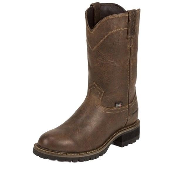 Justin Work Boots Mens Worker II Rugged Utah Western Brown