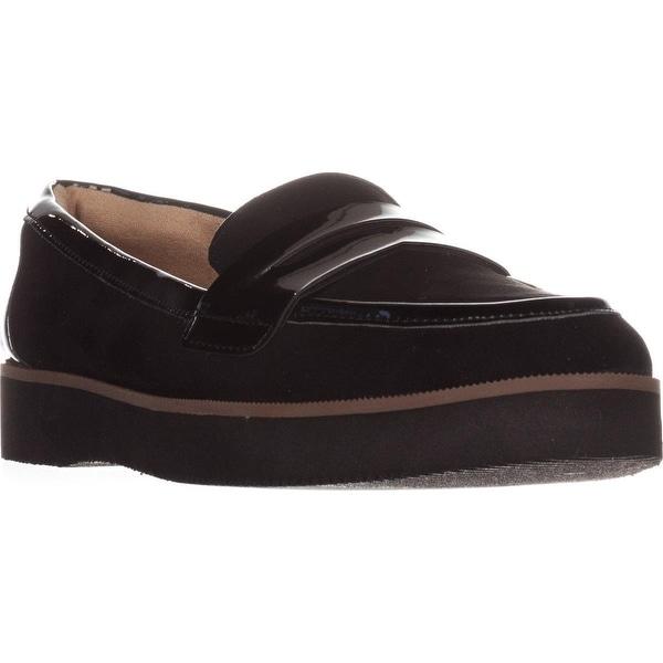 naturalizer Zoren Flat Loafer, Black Fabric/Shiny
