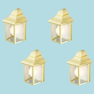 4 Outdoor Lighting Bright Brass Light