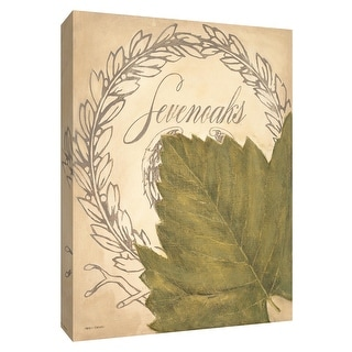 "PTM Images 9-154544  PTM Canvas Collection 10"" x 8"" - ""Chateau Nouveau Elements XI"" Giclee Leaves Art Print on Canvas"