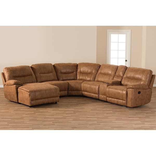 Astonishing Shop Mistral 6Pcs Light Brown Palomino Suede Sectional Sofa Gmtry Best Dining Table And Chair Ideas Images Gmtryco