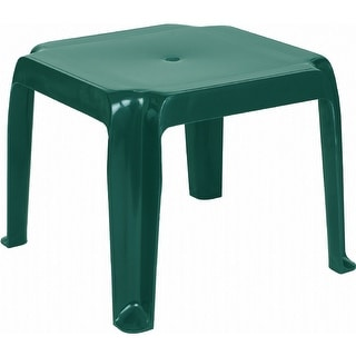 Sunray Resin Square Side Table [Set of 2] - Green