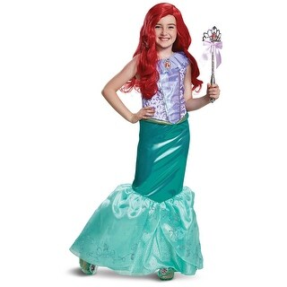 Girls Ariel Deluxe Disney Princess Mermaid Costume