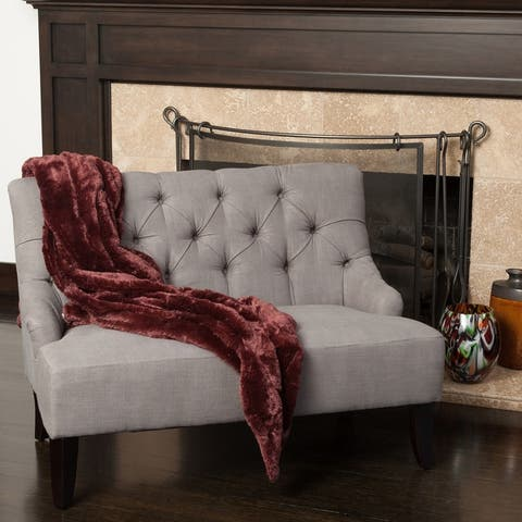 "Nicole Polyester Blend Fabric Settee by Christopher Knight Home - 31""h x 40""w x 30""d"