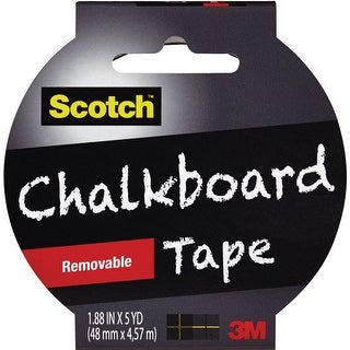 "Scotch 1905R-CB-BLK Chalkboard Tape, 1.88"" x 5 yds, Black"