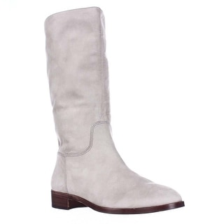 Via Spiga Jules Pull On Mid Calf Slouch Boots - Taupe