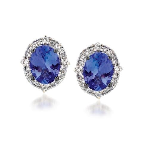 Encore by Le Vian Tanzanite & Diamond Earrins 14K White Gold Earrings
