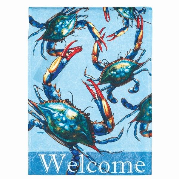 "18"" x 13"" Blue Crab ""Welcome"" Garden Flag - N/A"