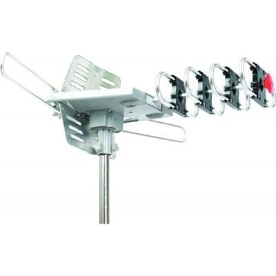 Supersonic Hdtv Digital Amplified Motorized 360º Rotating Outdoor Antenna, 20-28Db Gain