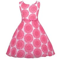 Sweet Kids Fuchsia Embroidered Lace Easter Dress Todder Girl 2T-3T