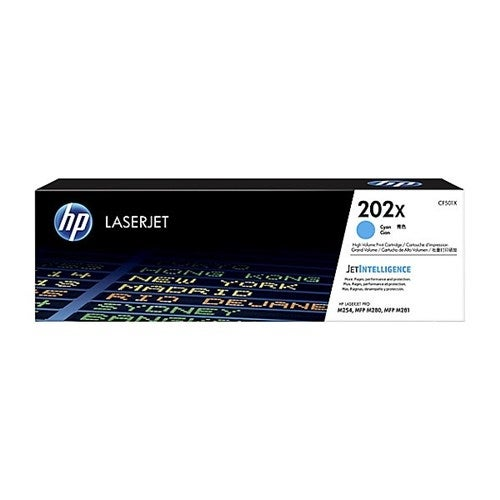 """HP 202X High Yield Cyan Original Toner Cartridge (Single Pack) Toner Cartridge"""