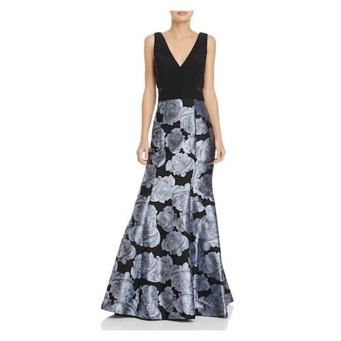 AVERY G Navy Sleeveless Full-Length Dress 2
