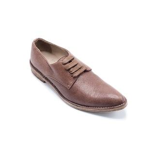 Brunello Cucinelli Men's Brown Leather Oxfords