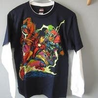 Marvel Comics Superheroes Youth M Medium Blue Shirt 68Ki