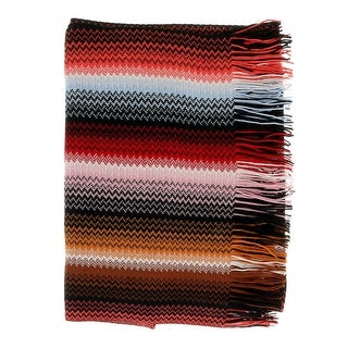 Link to Missoni Autumn Red Long Fine Zigzag Fringe Scarf - 17/20-71 Similar Items in Scarves & Wraps