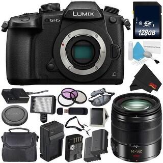 Panasonic Lumix DC-GH5 Mirrorless Micro Four Thirds Digital Camera (Body Only) + Panasonic Lumix G Vario f/3.5-5.6 ASPH Bundle
