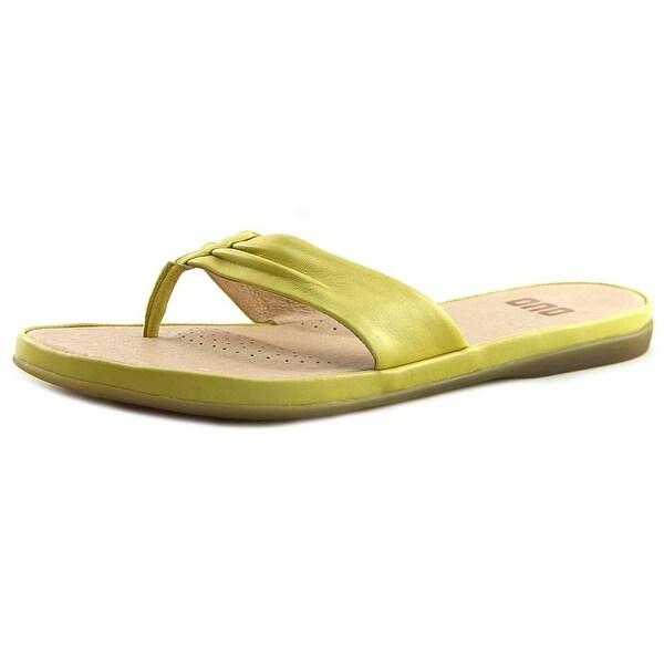 ONO Liv Women Open Toe Leather Yellow Flip Flop Sandal