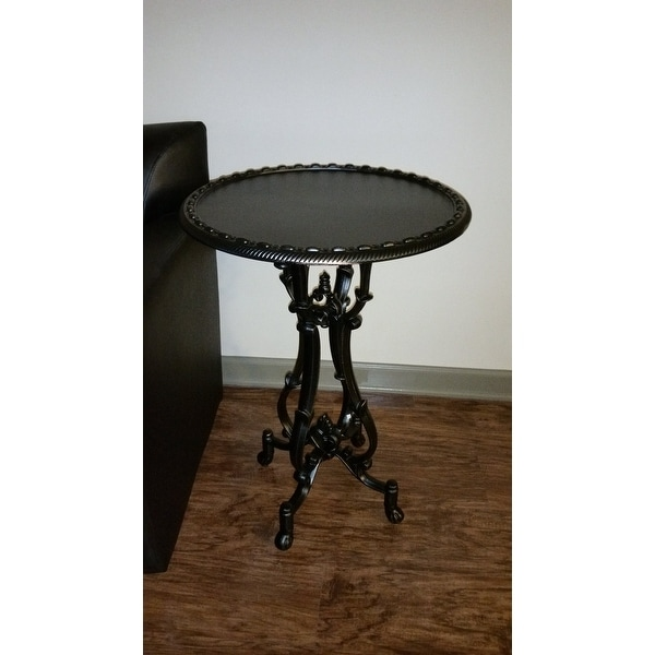 Christopher Knight Home Coco Cast Aluminum Accent Table   Free Shipping  Today   Overstock.com   17425425
