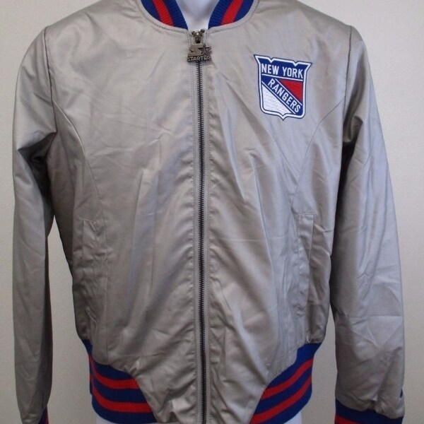 Shop NY Rangers Womens Size M Medium Silver Starter Light Jacket ... a892f840c8