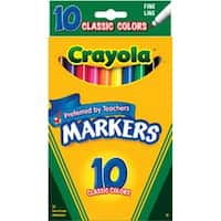 Classic Colors 10/Pkg - Crayola Fine Line Markers