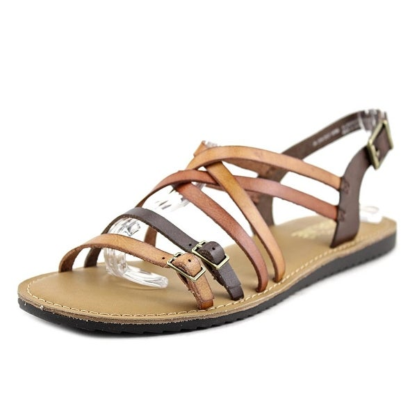 Madeline Girl Drew Drop Women Open Toe Synthetic Tan Gladiator Sandal