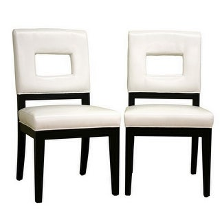 Faustino Cream Leather Dining Chair - 2pcs