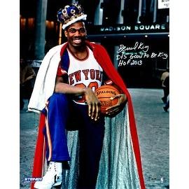"Bernard King Signed Wearing Crown 16x20 Photo w/ ""It's Good To Be King HOF 2013"" insc"