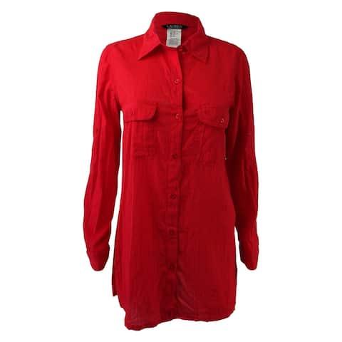 Lauren Ralph Lauren Women's Semi-Sheer Tunic Cover Up