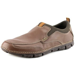Rockport Rocsports Lt2 Moc Slip Men Round Toe Leather Brown Loafer