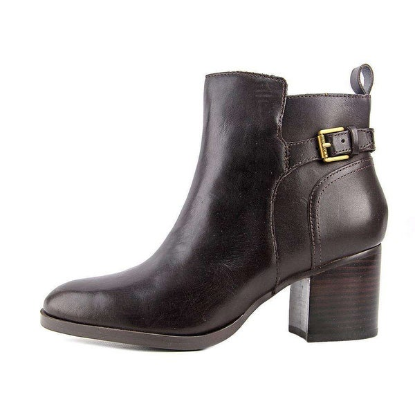 LAUREN by Ralph Lauren Womens Genna-Bo-CSL Leather Closed Toe Ankle Fashion B...