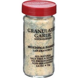 Morton & Bassett - Granulated Garlic Seasoning ( 3 - 2.6 OZ)