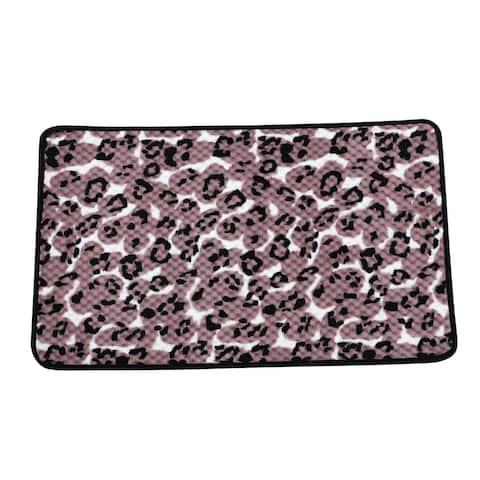 """Home Outdoor Nonslip Leopard Print Mat Scrape Doormat 28"""" x 18"""""""