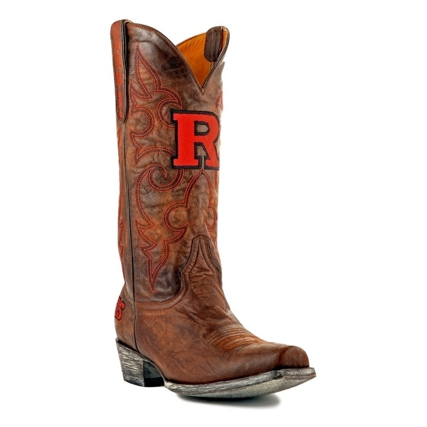 Gameday Boots Mens College Rutgers Scarlet Knight Brass
