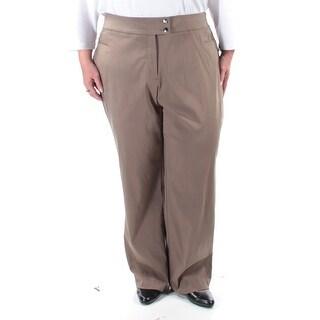 STYLE & COMPANY Womens New 1375 Gray Tummy Control Pants 3X Plus B+B