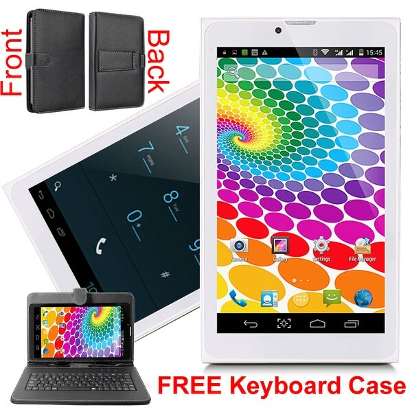 Indigi® Android 4.4 KitKat Factory Unlocked 3G 2-in-1 DualSIM SmartPhone + TabletPC w/ Keycase included