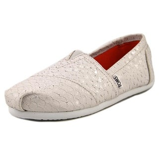 Toms Classic Women Round Toe Leather Gray Flats