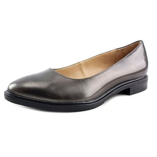 Naturalizer Bengol Women W Round Toe Leather Silver Flats