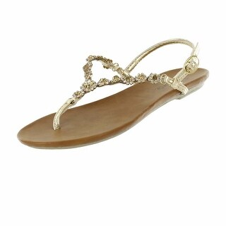 Red Circle Footwear Women's 'Nathan' Stone T Strap Sandals