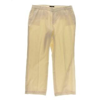 Ralph Lauren Womens Lined Wool Wide Leg Pants