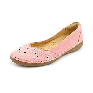 Naturalizer Kipper Women N/S Round Toe Leather Pink Flats